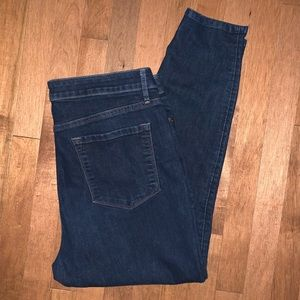 Loft curvy high waisted skinny ankle jeans 32/14
